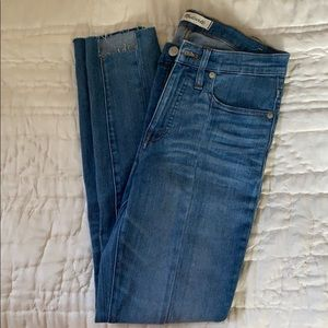 NWOT Madewell seamed cropped blue jeans